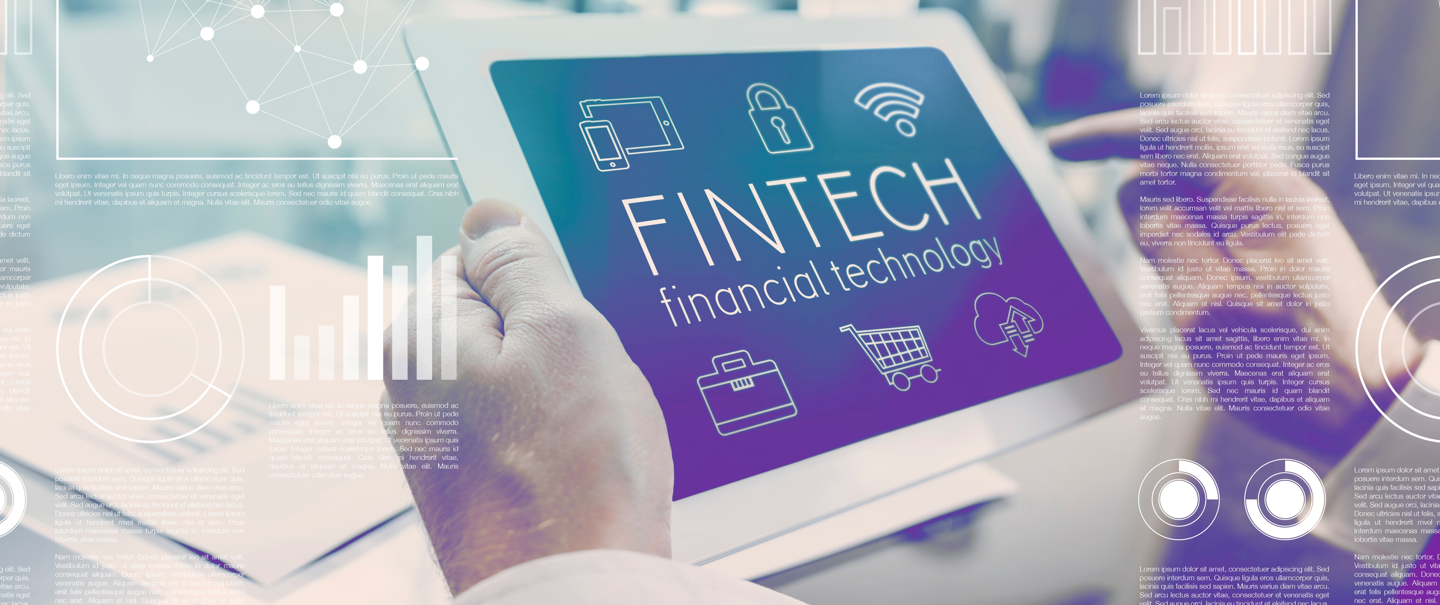 Future of financial technology internet interface concept